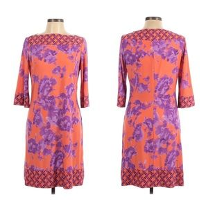 Donna Morgan Shift Dress Bold Floral Size 12